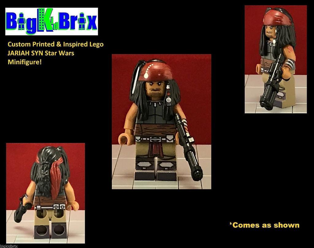 JARIAH SYN Custom Printed /& Inspired Lego Star Wars Minifigure